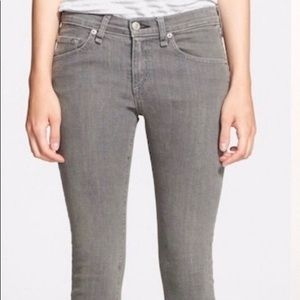Rag and Bone Iron Gray Skinny Jeans